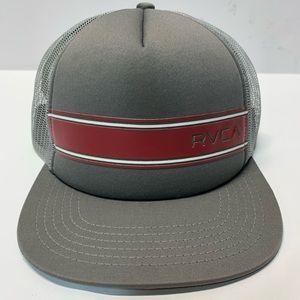 RVCA Mesh Trucker Snapback Flat Brim Cap Hat
